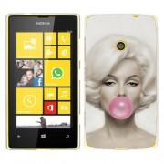 Husa Nokia Lumia 520 Silicon Gel Tpu Model Marilyn Monroe Bubble Gum