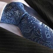 Distino Of Melbourne Penchant For Paisley Seven Fold Silk Necktie SF7