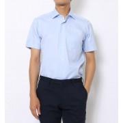 100/2コットンロイヤルオックスフォード ワイドカラーショートスリーブシャツ【トゥモローランド/TOMORROWLAND メンズ シャツ・ブラウス 65 ブルー ルミネ LUMINE】