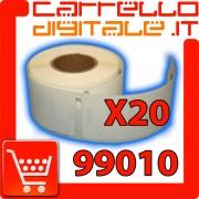 Etichette Compatibili con Dymo 99010 Bixolon Seiko 20 Rotolo