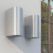 vidaXL Градински лампи за стена, с горно и долно осветление, 2 броя