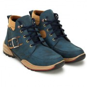 Crown Sapphire Casual Boots For Men (Blue 6 UK)