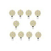 10pcs 2 W LED à Double Broches 200 lm G4 12 Perles LED SMD 5050 Blanc Chaud Blanc 12 V