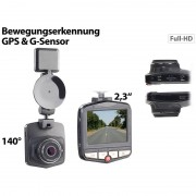"NavGear Full-HD-Dashcam MDV-2770.gps mit GPS & G-Sensor, 5,8-cm-Display (2,3"")"