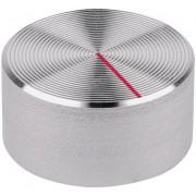 Buton aparat de măsură Mentor, aspru, aluminiu, Ø ax 6 mm, tip 523.611