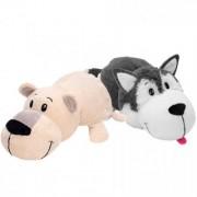 Mascota FlipaZoo 32 cm - Catel Husky si Urs Polar