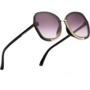 Royal Son Butterfly, Over-sized Sunglasses(Black)
