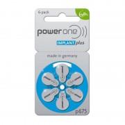 Power One 60 Batterie 675 Implant Plus Per Protesi Acustiche