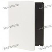 funda protectora de cuero PU giratoria para ipad 2 - blanco