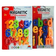 FunBlast™ (Pack of 2) Magnetic Learning Letters Alphabets and Numbers, Premium Quality ABC and 123 Educational Magnets with Mathematical Symbol for Kids (Combo of 2 - Small Letters & Numbers)