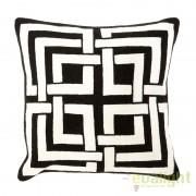 Perna din bumbac cu tricotaj din lana Blakes Black and White 108255 HZ