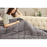 Hangzhou Yuxi Trade Co. Ltd (t/a PinkPree) £39.99 instead of £79.99 for a 100% cotton weighted blanket in dark grey from PinkPree - save 50%
