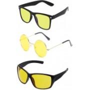 SRPM Wayfarer, Round Sunglasses(Yellow)
