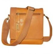 Kan Tan Genuine Leather Messenger Bag/Backpack for Men & Women 7 L Backpack(Tan)
