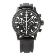 【57%OFF】Commando Chronograph ラウンド クロノグラフ デイト ウォッチ ブラック×ブラック・ホワイト×ブラック ファッション > 腕時計~~メンズ 腕時計