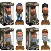 Funko Duck Dynasty Talking Wacky Wobbler Phil Robertson Jase Willie Uncle Si SET of 4 Bobble Heads