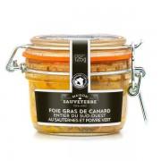 Maison Sauveterre Foie gras de canard entier du Sud-Ouest IGP au Sauternes et au poivre vert - Bocal Le Parfait 180g