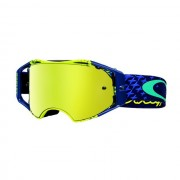 Oakley OO7046 42 AIRBRAKE MX TLD STARBURST YELLOW BLUE 24K IRIDIUM motocross szemüveg