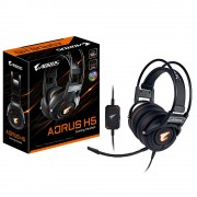 HEADPHONES, Gigabyte Aorus H5 RGB Fusion, Gaming, Microphone, Черен