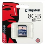 Memory Card Flash Memoria SD Kingston 8GB Originale in confezione Blister sigillata