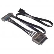 Silverstone CP13 Cable Extensión SATA 15+7 Pines Negro
