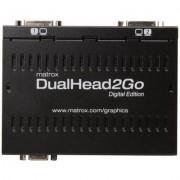 Външен мулти-дисплей адаптер Matrox D2G-A2D-IF за едновременна работа на 2 монитора с VGA вход