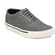 Wood Age Men's Gray White Lace-up Sneakers