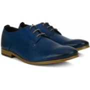 Clarks Chinley Walk Blue Leather Lace Up For Men(Blue)
