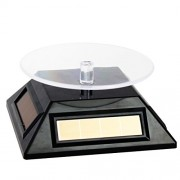 New Solar Powered Rotating Display Stand Turn Table (Black)