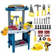 Fun Construction Tool Box, Junior Power Tool Workshop, Children's Educational Pretend Role Play Set