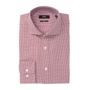 BOSS Mark Houndstooth Sharp Fit Dress Shirt OPEN RD