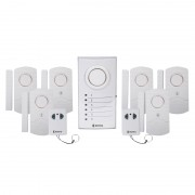 Sistem de alarma wireless Konig, 2 telecomenzi, 6 senzori