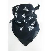 Zwarte boerenzakdoek bandana met skull