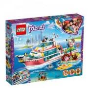 Конструктор Лего Френдс - Лодка за спасителни мисии - LEGO Friends, 41381