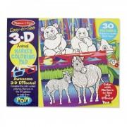 Caiet de colorat Animale, 3D, 30 pagini