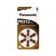 PANASONIC PR312 - baterii ZincAir 1.4V, 6buc