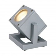 SLV Cubix I outdoor spotlight IP44, silver-grey