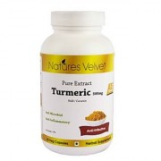 Turmeric 500mg Pure Extract 60 Veg Capsules By Natures Velvet