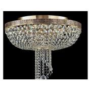 Plafoniera Diamant Crystal Twister,6 becuri dulie E27, 230V,D.48cm, H.49 cm,Auriu