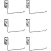 Doyours Stainless Steel Glossy Towel Holder - Set of 6 (Square series)