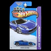 Hot Wheels HW Showroom Ferrari 458 Spider Blue #151/250