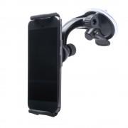 Shop4 - Samsung Galaxy S9 Plus Autohouder Verstelbare Dashboardhouder Zwart