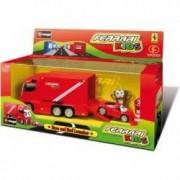 Set camion si masinuta de curse Ferrari Kids - 1 43