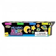 Creativ Kids Kiddy Dough sötétben világító gyurma, 4 db