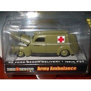 Racing Champions Racing Champions Fire Rescue Army Ambulance 1940 Ford Sedan Delivery Issue #27