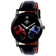 Red-Blue Jaguar Analogue Men's Watch By Taj Avenue