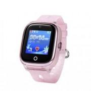 Ceas Smartwatch Pentru Copii Wonlex KT01 cu Functie Telefon Localizare GPS Camera Pedometru SOS IP67 - Roz Pal Bonus Cartela Prepaid Vodafone 10