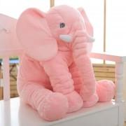 Almohada Suave De Bebé Para Dormir Con Bonito Peluche De Elefante-Rosa