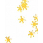 Flocos de neve de Natal dourados 45g