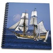 3dRose db_96994_1 Washington Tall Ship Small Sailboats-US48 WSU1005-William Sutton-Drawing Book 8 by 8-Inch